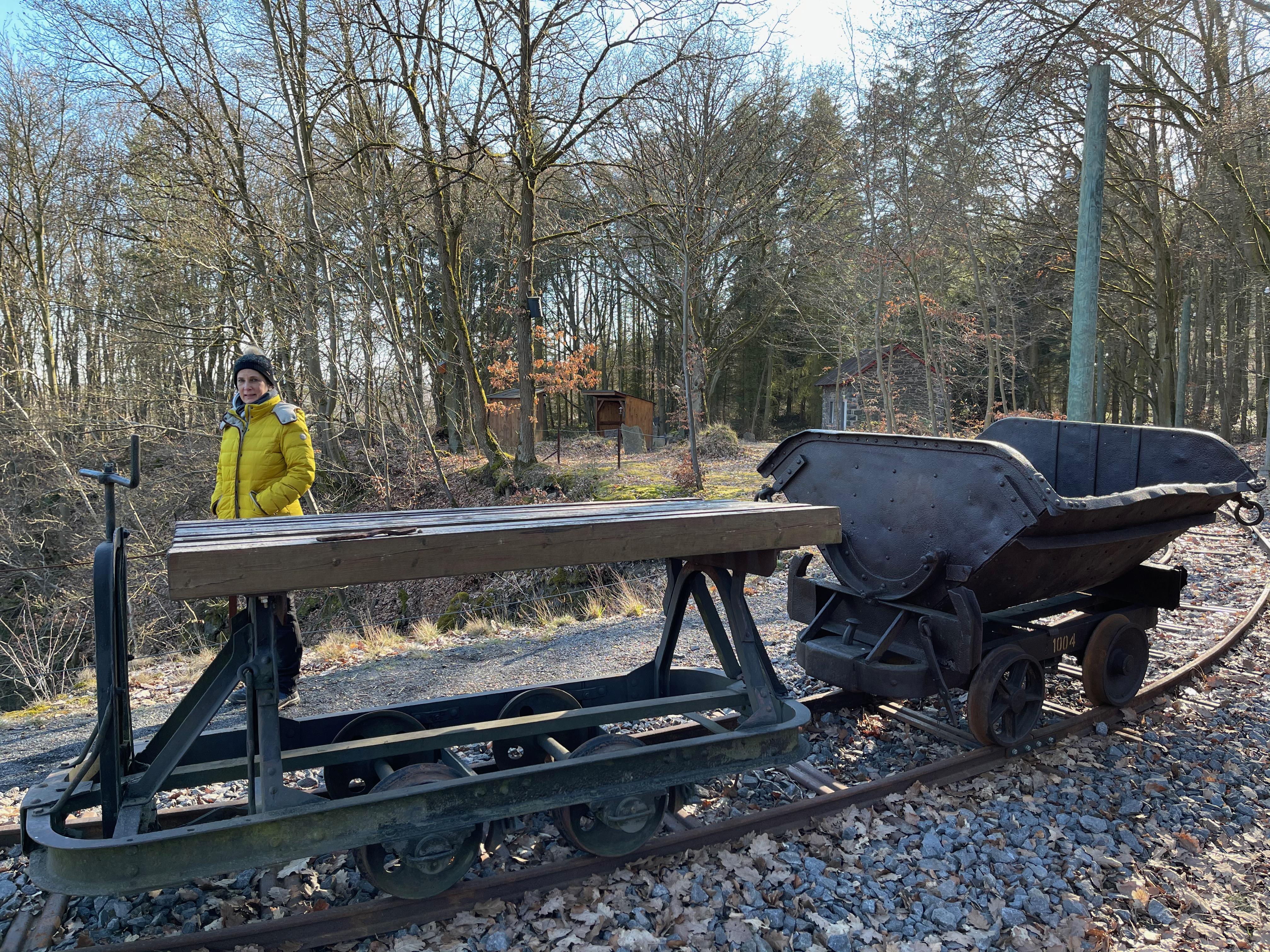 Teile einer alten Grubenbahn